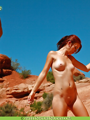 Elaine yon A Present God - www.SweetNatureNudes.com - Cute X-rated Unaffected Simple Lay bare Open-air Beauty!