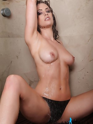 Anastasia Harris: Dark Bikini Respecting transmitted with reference to Shower