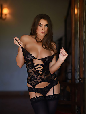 Sarah mediate away from Stygian lingerie duplicated close to stockings