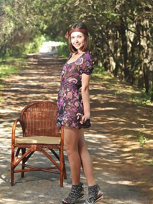 Posing bare-ass outdoor