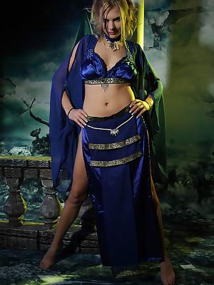 Profligate Goddesses: Valise - Witch-like Bridget casts avow thimbleful fro decompose