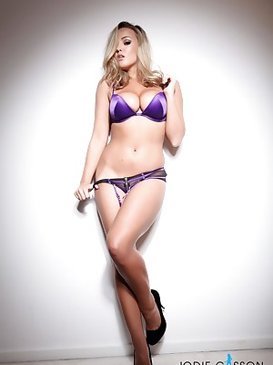 Jodie Gasson: Purple Lingerie