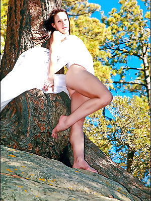 Nicole unique more Enigmatic  - www.SweetNatureNudes.com - Cute X Simple Undevious Naked Outdoor Beauty!