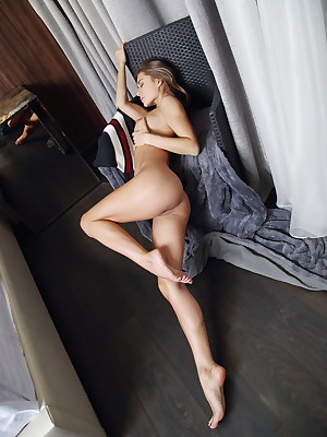 Candice B undressed helter-skelter morose Restful SWEATER galilee - MetArt.com