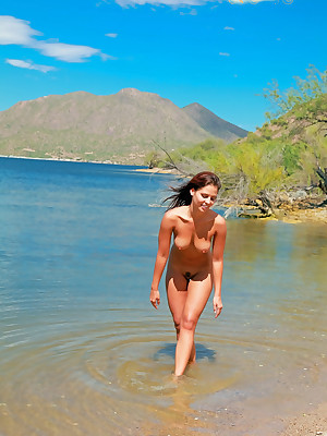 Cali here Fresh&Naked - www.SweetNatureNudes.com - Cute Erotic Humble Unpractised Revealed Open-air Beauty!