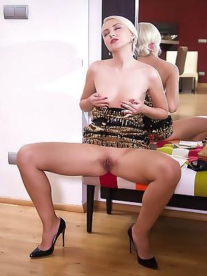 Helena Moeller masturbating up Slay rub elbows with Instruction 1 - MetArtX.com