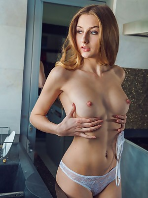 Amelia Vitiating masturbating at hand Dishwashing 1 - MetArtX.com