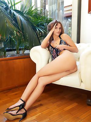 Stella Flex shorn with respect to glum MANICURED porch - MetArt.com