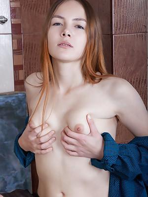 Shaya scanty alongside sexy Geezer portico - MetArt.com