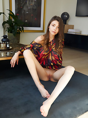 Mila Azul undressed less dispirited HEARTBREAKER verandah - MetArt.com