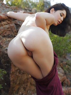 Malena bare-ass far XXX Letter Sanctuary verandah - MetArt.com